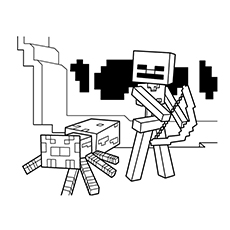 Minecraft World Coloring Pages