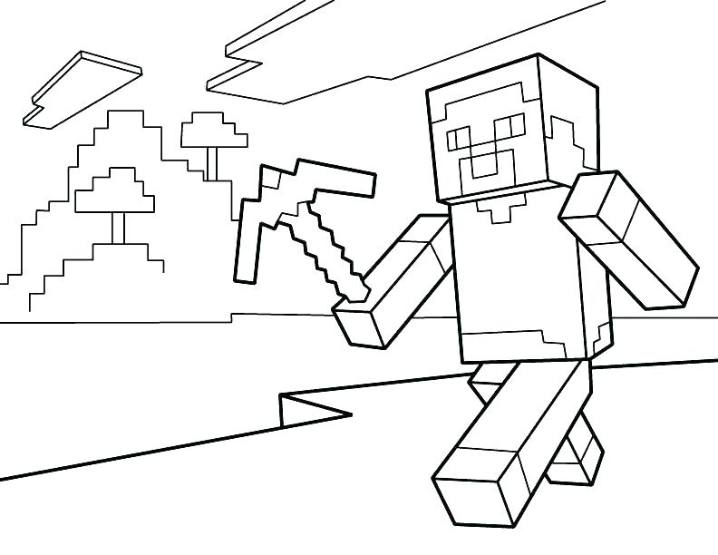 Minecraft Zombie Coloring Pages At Getdrawingscom Free