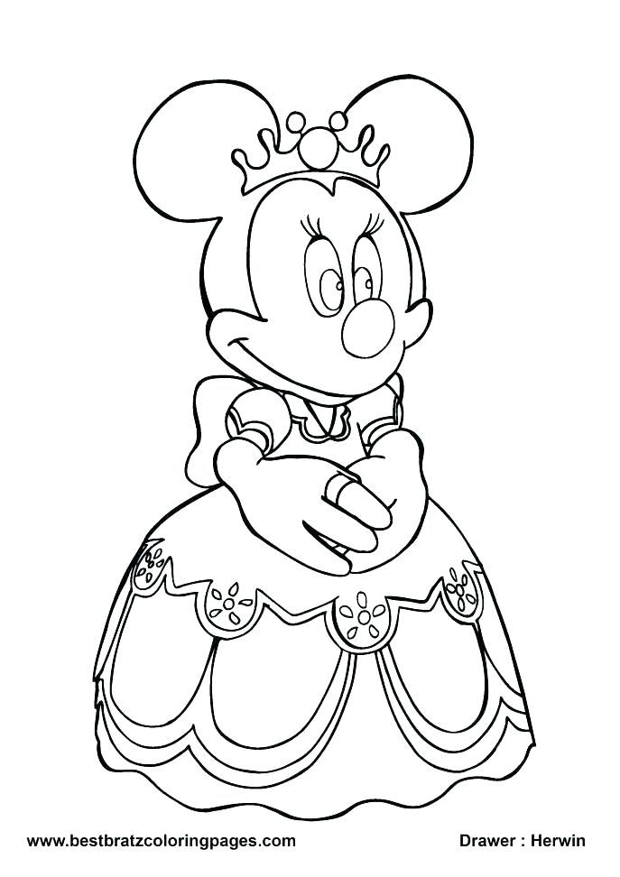 687x972 Minnie Mouse Coloring Pages Online Printable Coloring Mini