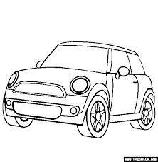 222x227 Free Coloring Page Of A Austin Mini Cooper S Color