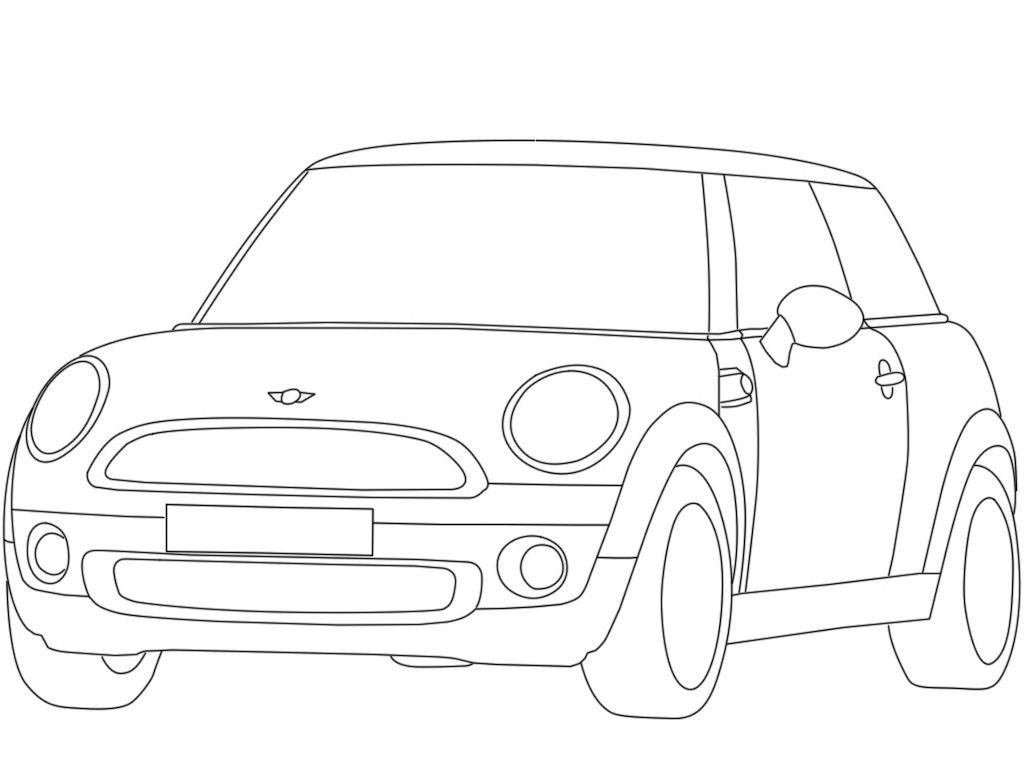 1024x768 Mini Coloring Pages Mini Coloring Pages Mini Cooper Color