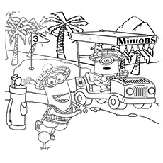 Mini Golf Coloring Pages