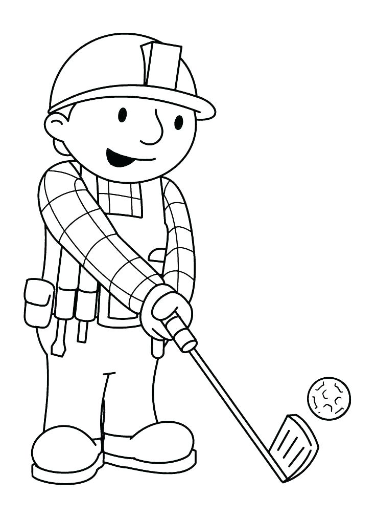 736x1012 Golf Coloring Page Golf Bag Coloring Page