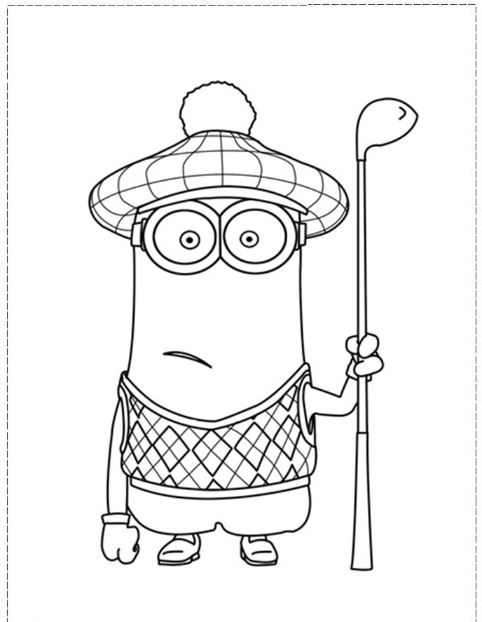 688x887 Golf Coloring Pages