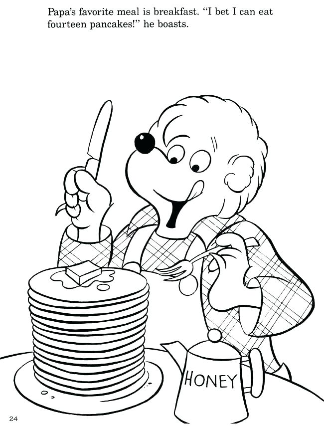 650x854 Berenstain Bears Coloring Pages Mini Golf Bears Coloring Page