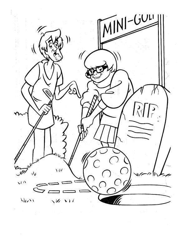612x792 Velma And Shaggy Playing Golf Coloring Page Animal Pages