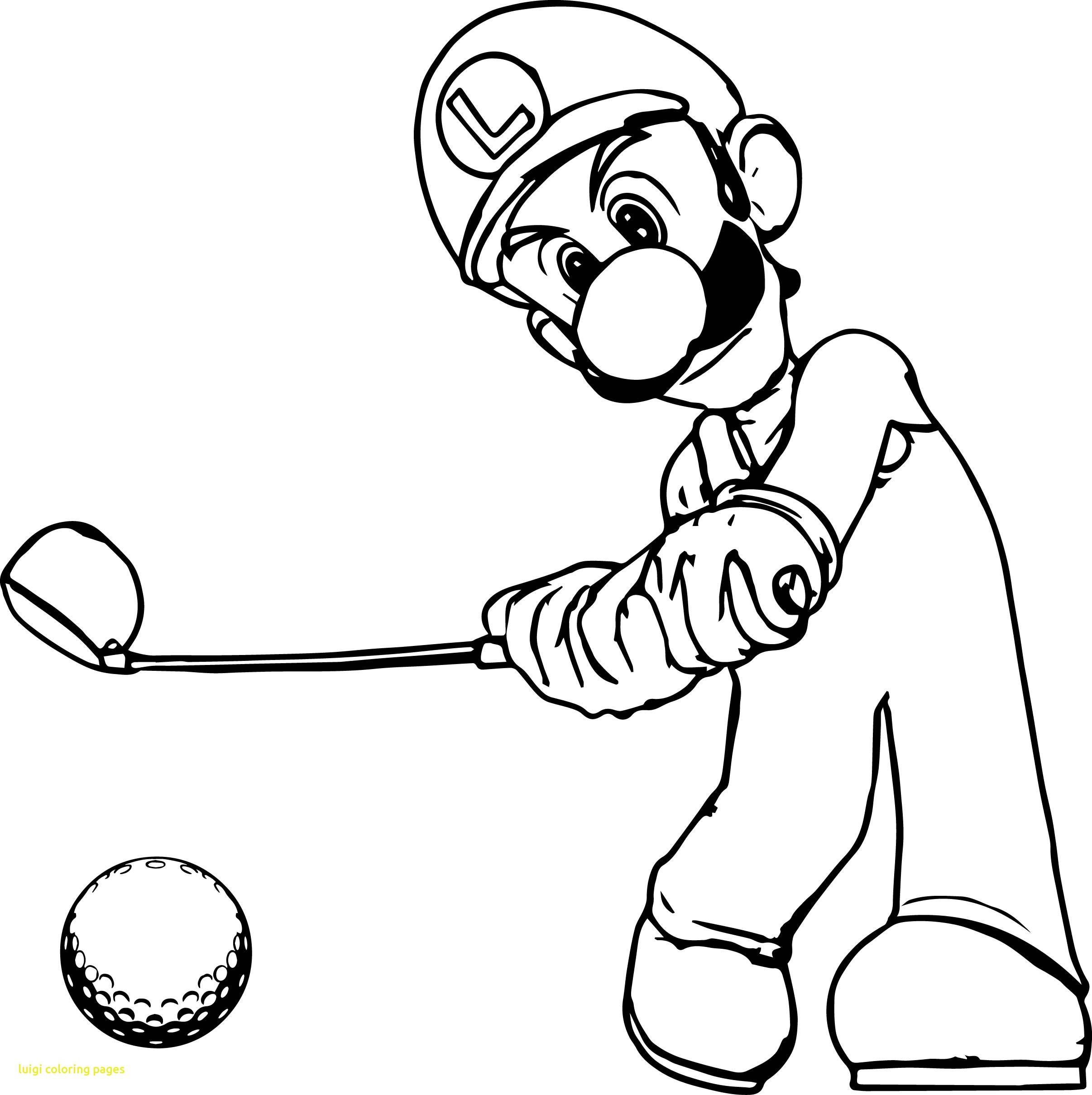 2412x2419 Luigi Coloring Pages With Super Mario Golf Page Ribsvigyapan Luigi