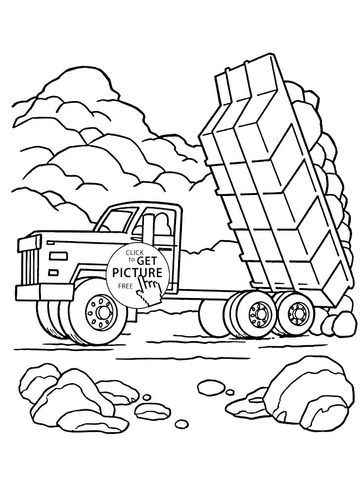 736x994 Dump Truck Coloring Pages Mining Dump Truck Coloring Pages A Big