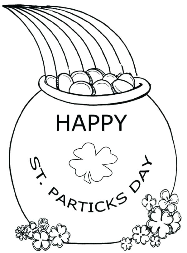 600x813 Gold Coloring Pages Pot Of Gold Coloring Pages Best Photos Of Pot