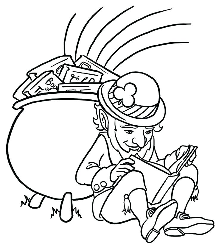 735x820 Gold Coloring Pages Tarantula Coloring Page Leprechaun With Pot