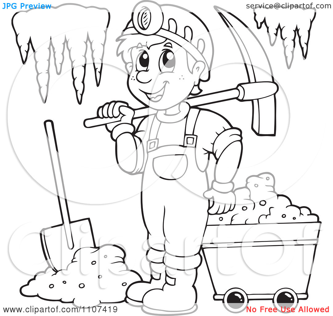 1080x1024 Mining Coloring Pages
