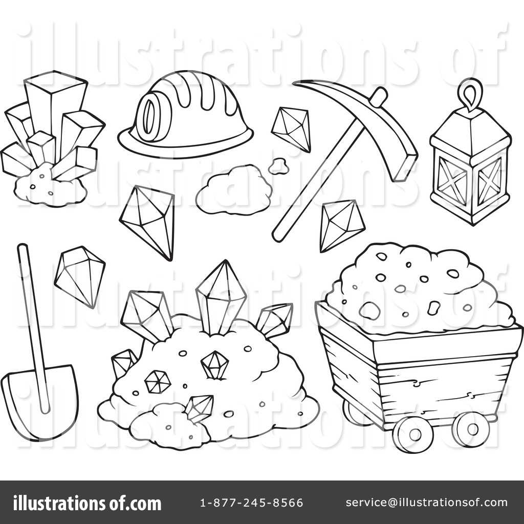 1024x1024 Security Mining Coloring Pages Clipart Illustration