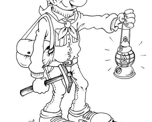 530x425 Coal Mine Coloring Page Best Mining Color Pages Images