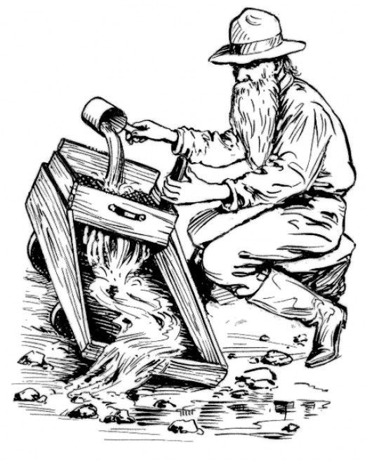 520x657 Gold Mining Coloring Pages