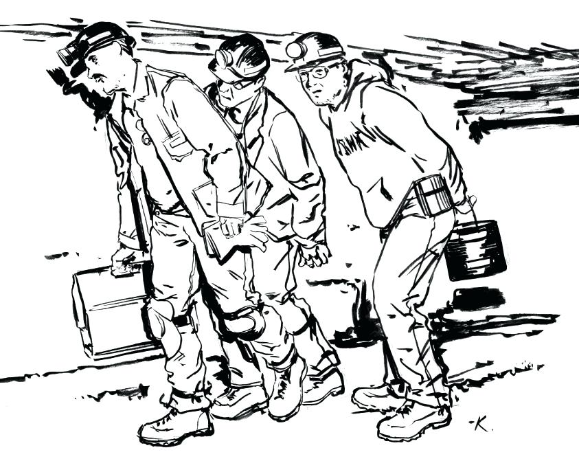 843x671 Coloring Pages For Adults Quotes Coal Miner Mining Excavator