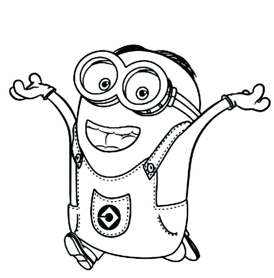 Minion Birthday Coloring Pages