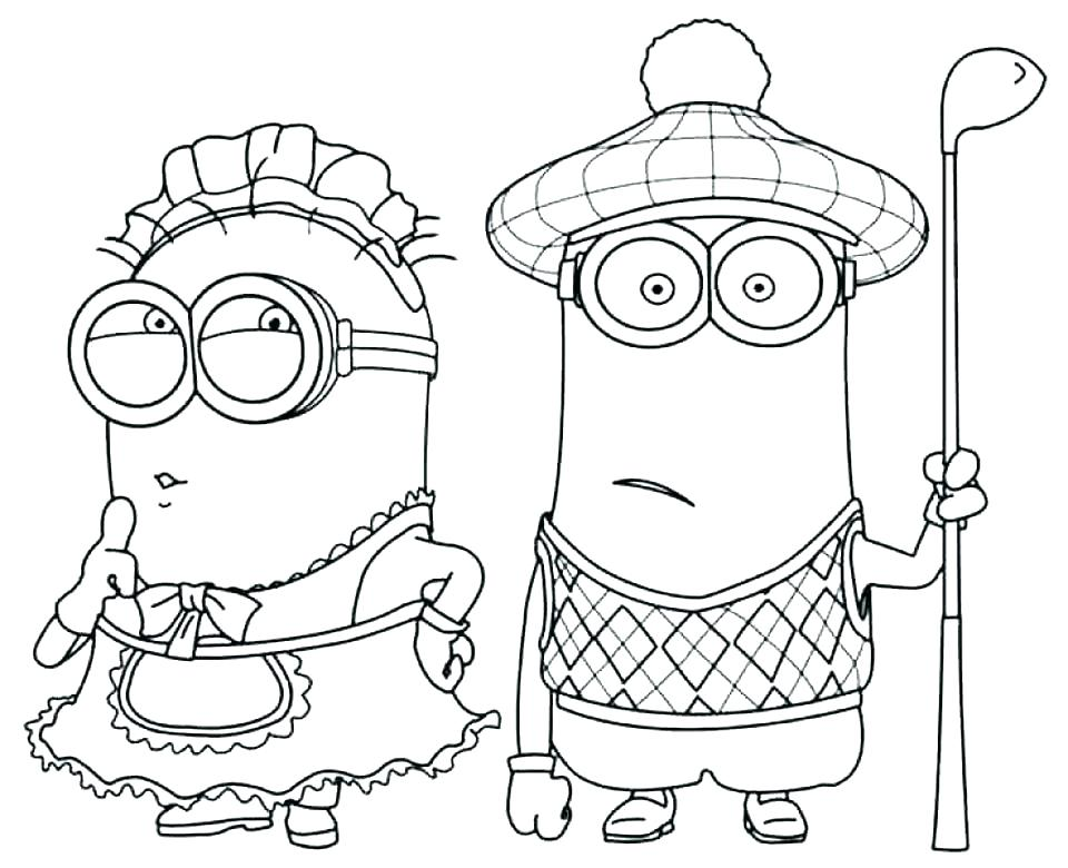 960x780 Minion Coloring Pages To Print Printable Minion Birthday Coloring