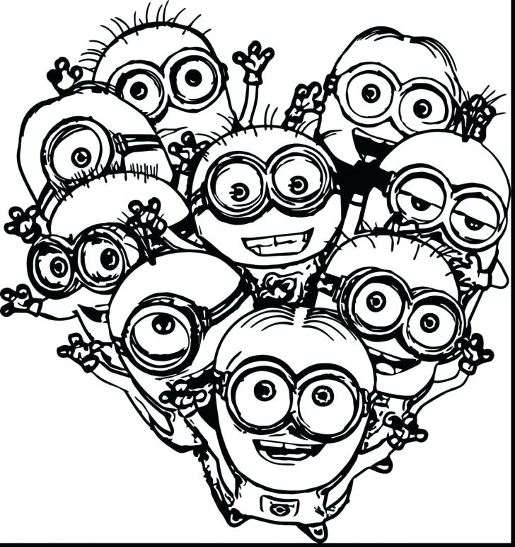 728x772 Minion Printable Coloring Pages Printable Coloring Pages For Girls