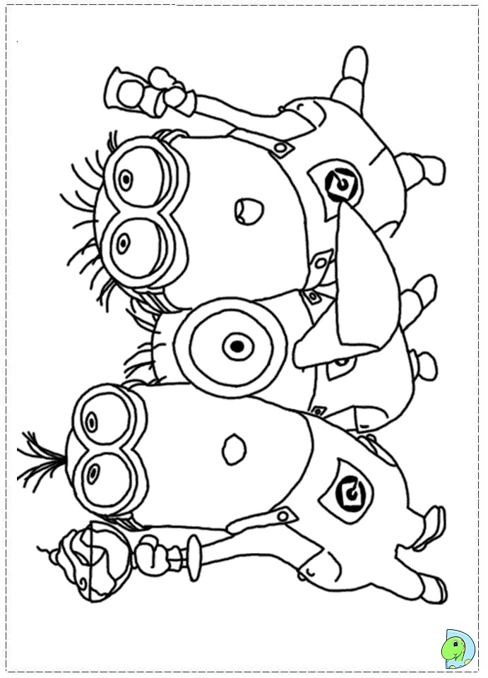 691x960 Minion Coloring Pages The Sun Flower Pages