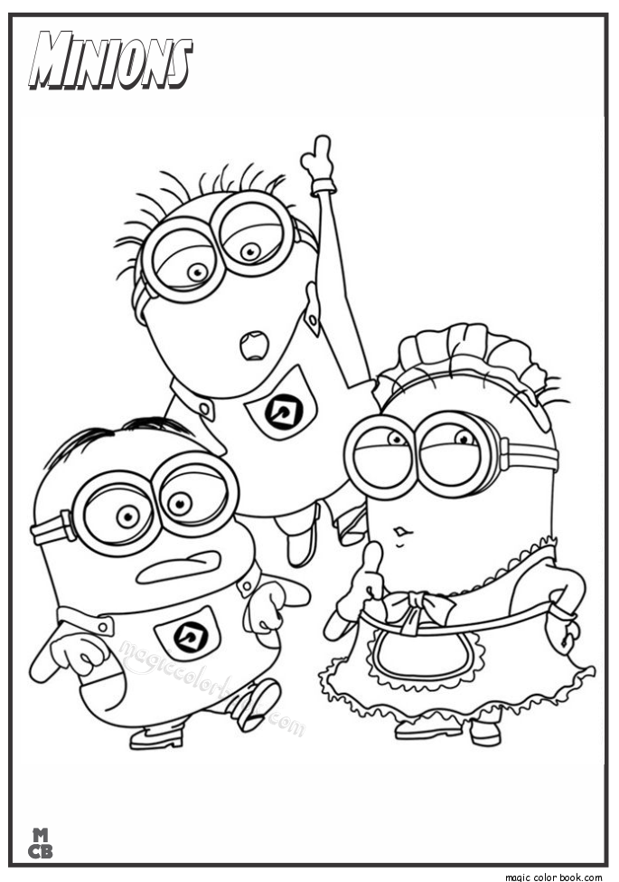 685x975 Minions Coloring Pages