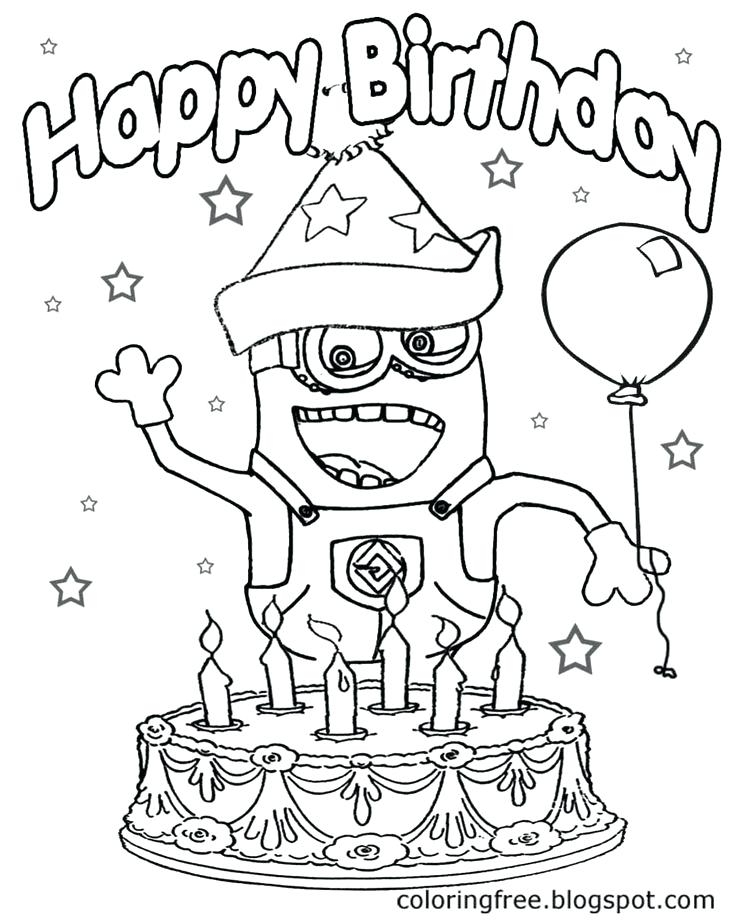 736x920 Minions Coloring Pages Happy Birthday