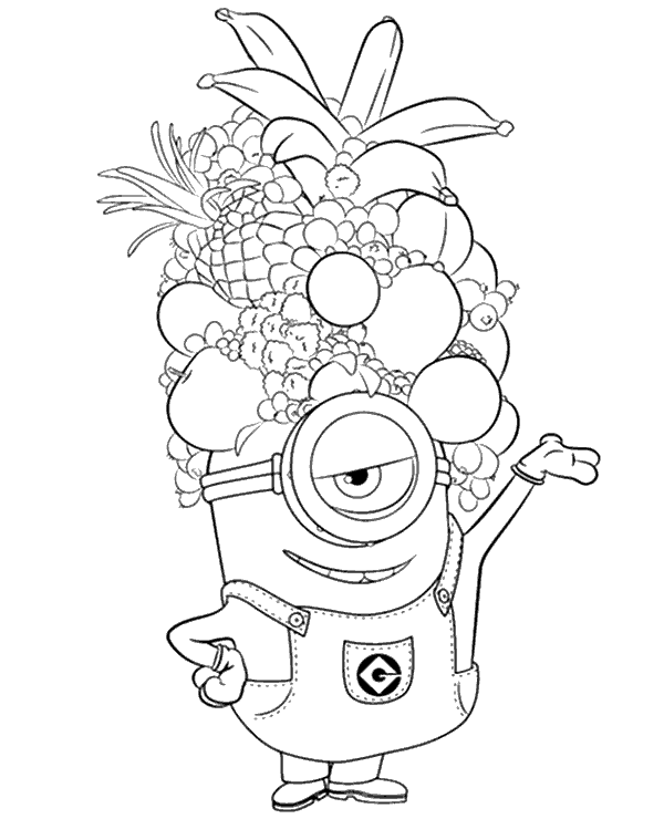 picture relating to Minions Printable Coloring Pages known as Minion Birthday Coloring Internet pages at  Free of charge for