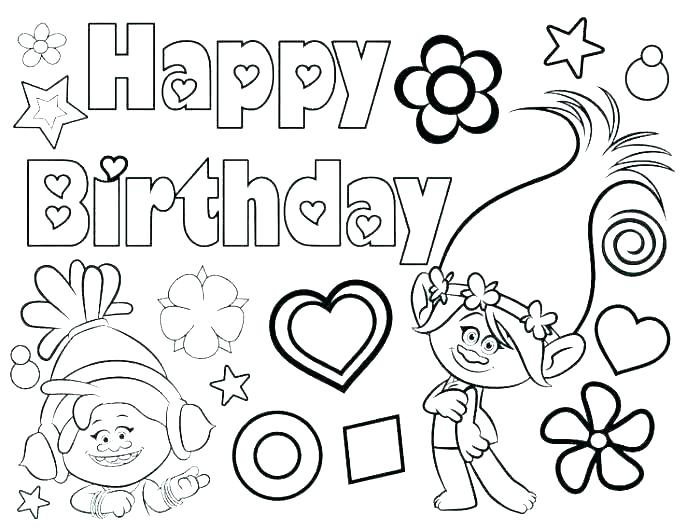 687x530 Coloring Pages Of Happy Birthday Happy Birthday Coloring Page