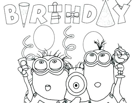 440x330 Printable Minion Pictures Coloring Pages Despicable Me Minions