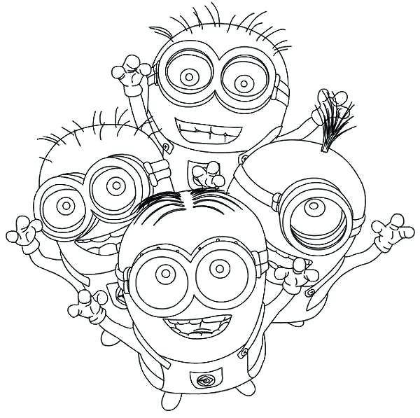 600x597 Printable Minions Coloring Pages Minions Coloring Book And Minion