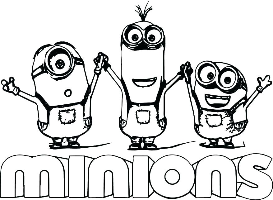 878x642 Printable Minions Coloring Page For Online Printable