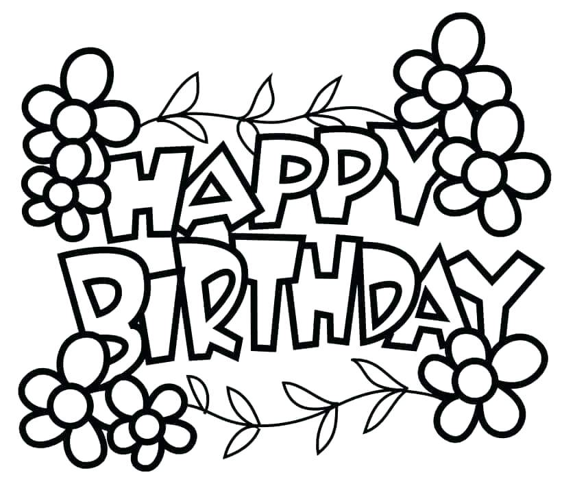 839x706 Free Birthday Coloring Pages To Print