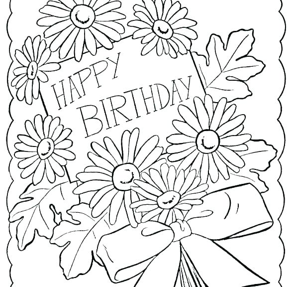 587x576 Free Printable Birthday Coloring Pages Coloring Pages Happy