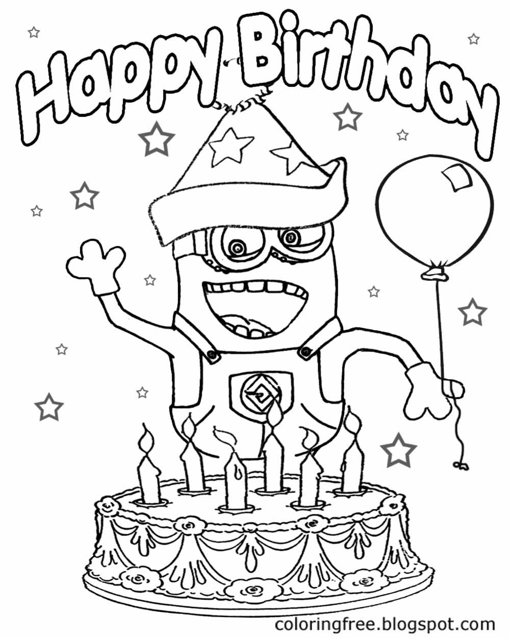 1000x1250 Happy Birthday Minions Drawing