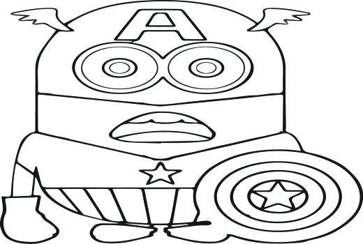 520x350 Minion Christmas Coloring Pages Minion Coloring Pages Coloring