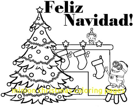 468x367 Minion Christmas Coloring Pages With Minions Christmas Coloring