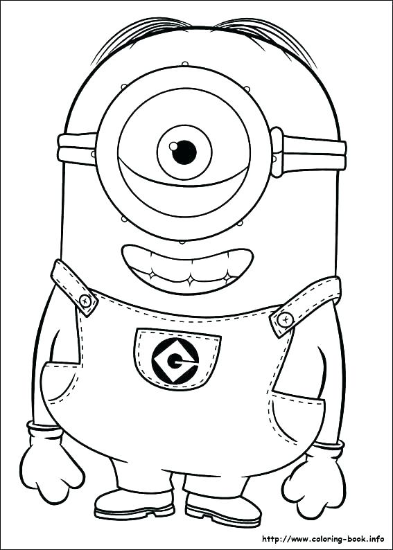 567x794 Minion Coloring Pages Free Printable Despicable Me Coloring Pages