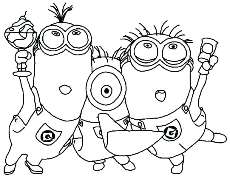 771x600 Minion Printable Coloring Pages Strikingly Beautiful Minions