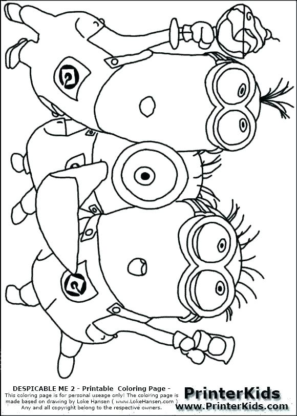580x812 Minions Coloring Pages To Print S Prt S Minion Christmas Coloring