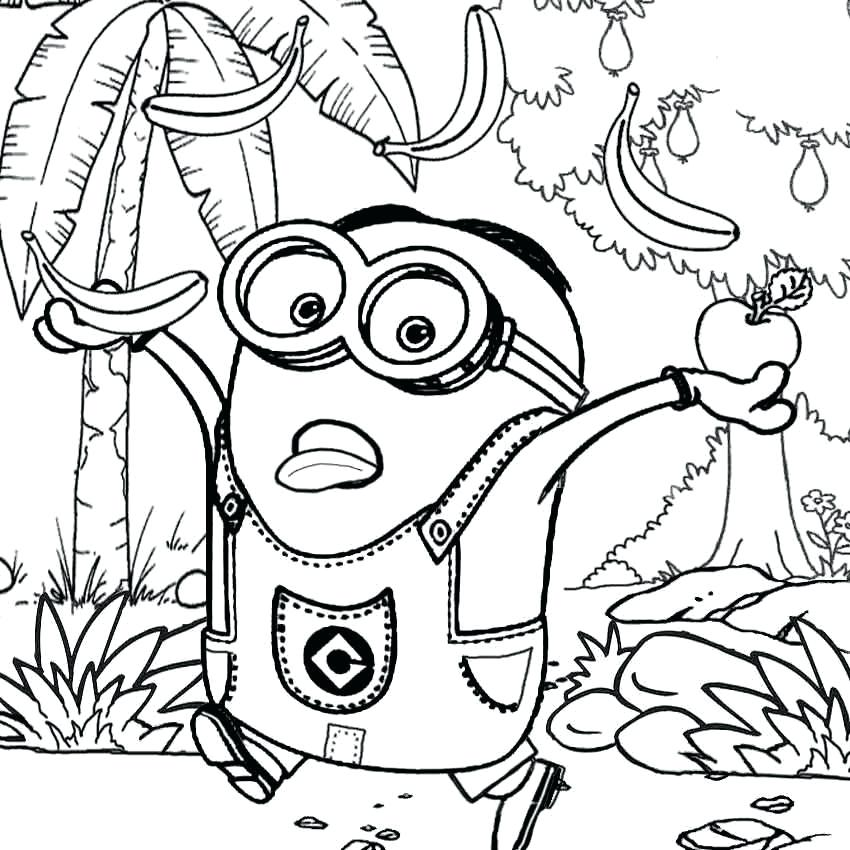 850x850 Printable Minions Coloring Pages Printable Minions Coloring Pages