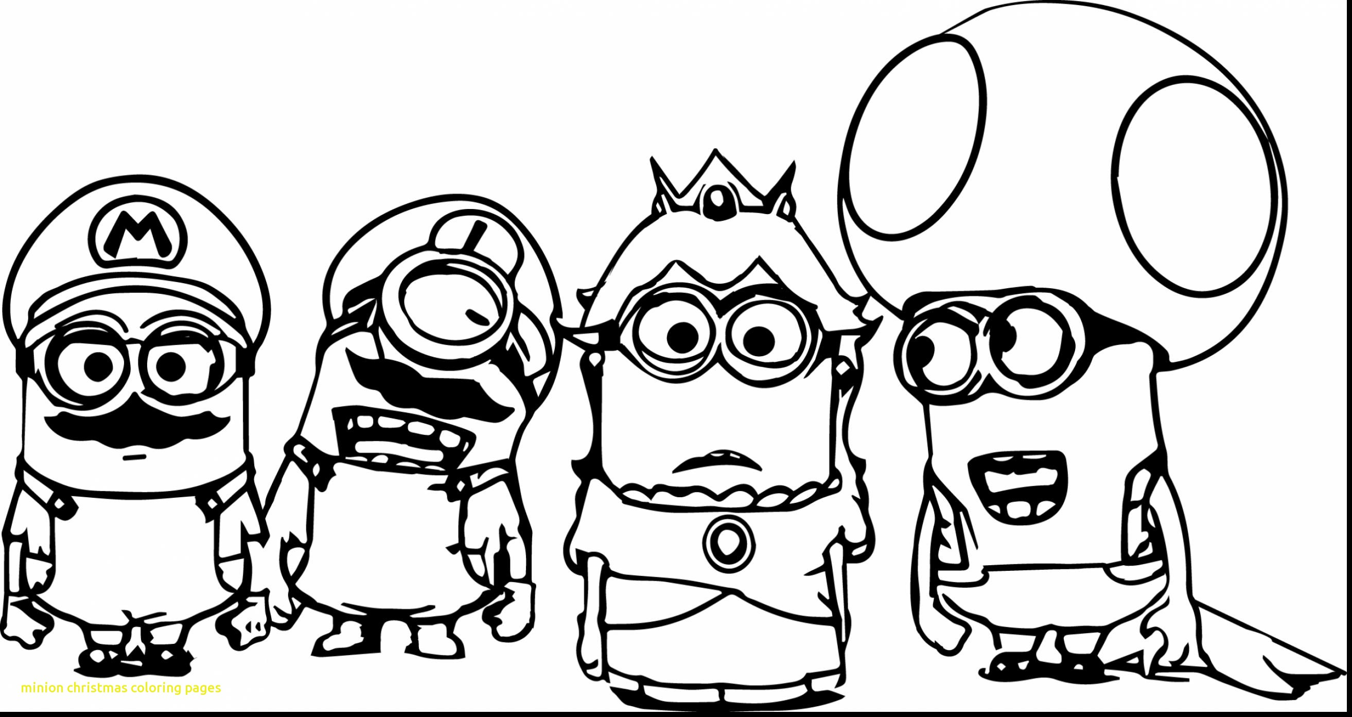 2627x1393 Inspiration Minion Christmas Coloring Pages With Minions Christmas