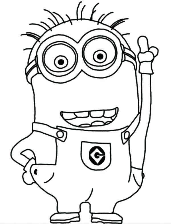 600x783 Despicable Vintage Minion Coloring Pages To Print