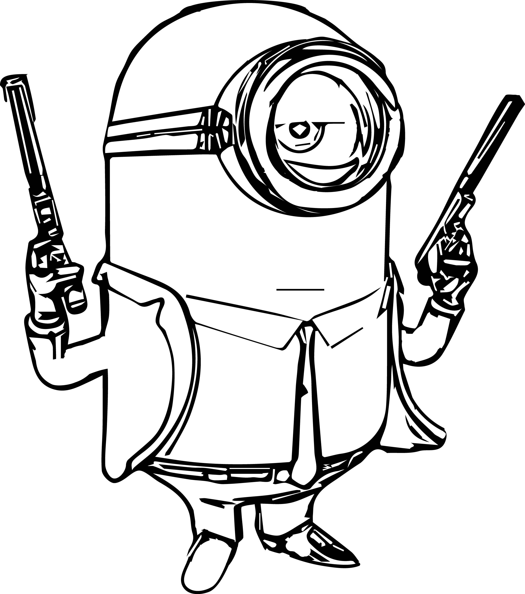 2100x2376 Coloring Pages Minions