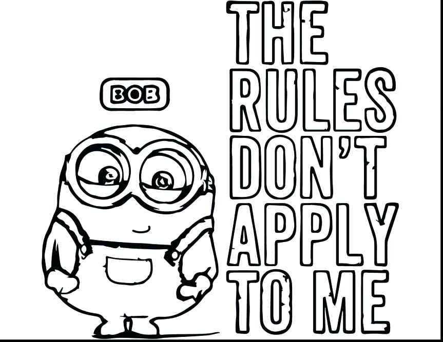 863x667 Evil Minion Coloring Pages Minions Of Book Bob Coloring Free