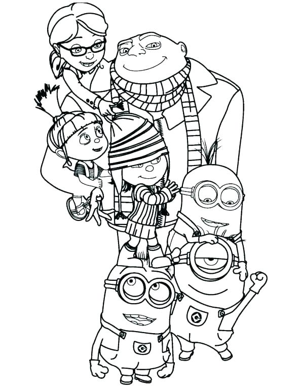 592x766 Free Minion Bob Coloring Pages Printable Coloring Minion Coloring