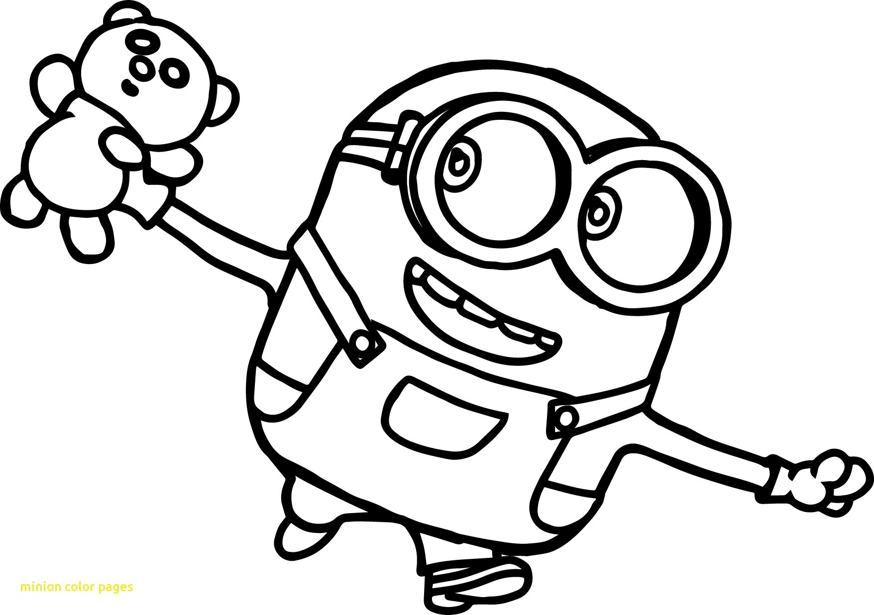 1756x1237 Important Bob The Minion Coloring Pages Color With Minions Movie