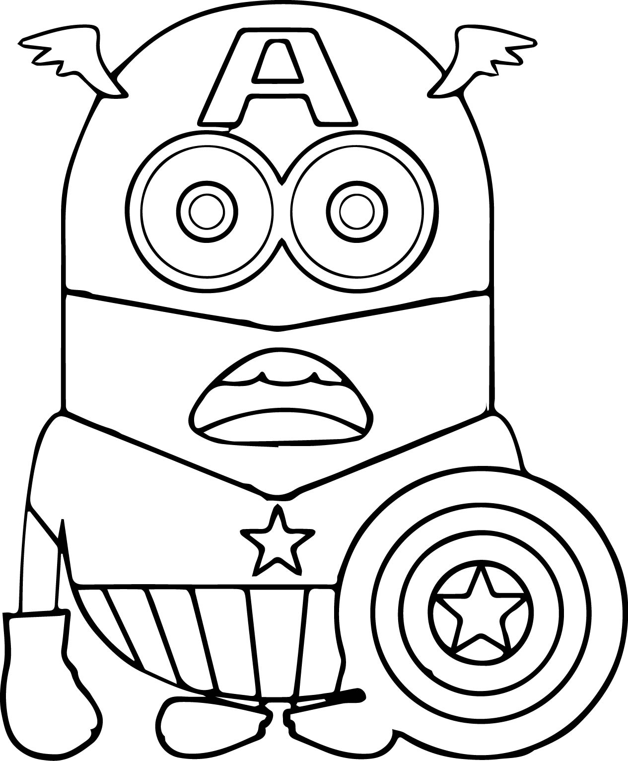 1265x1532 Minion Coloring Pages Bob Download