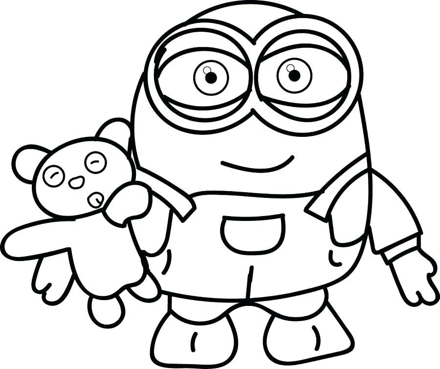 900x755 Bob The Minion Coloring Pages