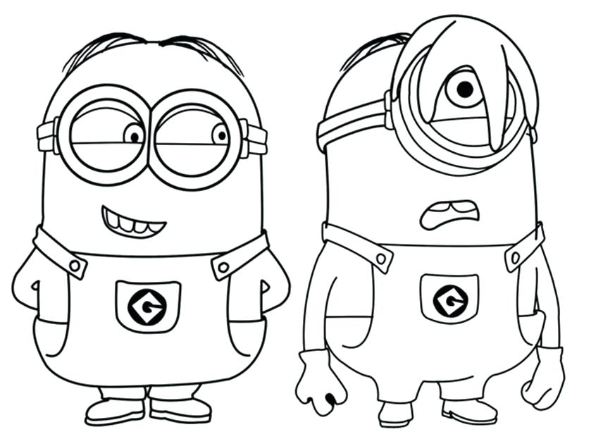 873x623 Minion Coloring Pages Download Free Minion Printable Minions