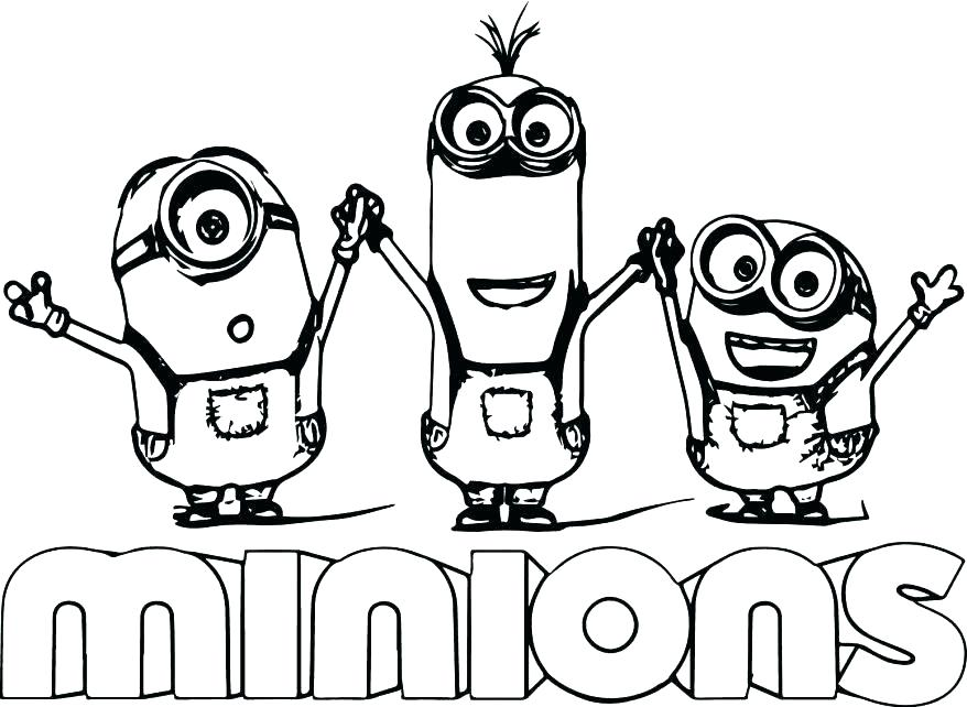 878x642 Minion Coloring Pages Minion Coloring Pages Minions Coloring Pages