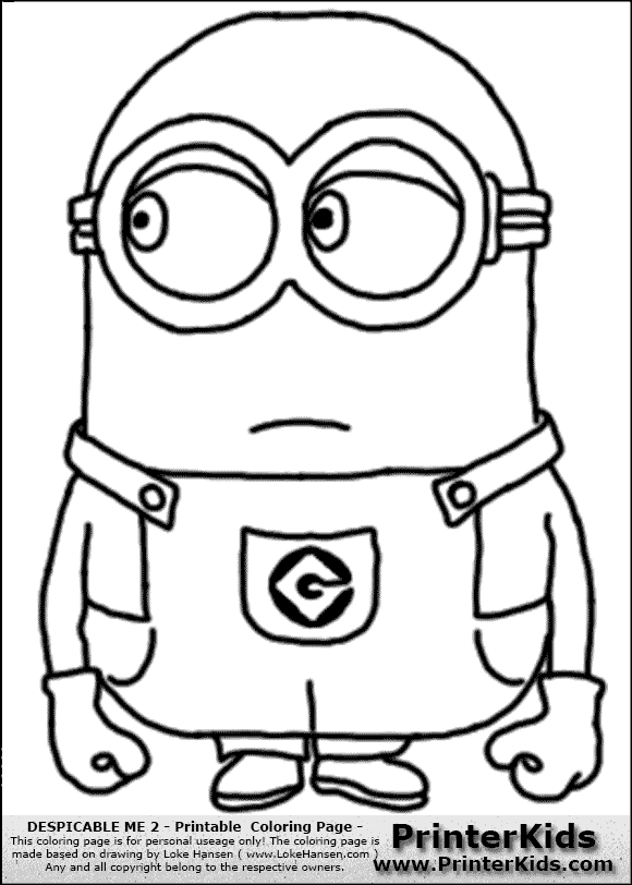 580x812 Minions Coloring Pages